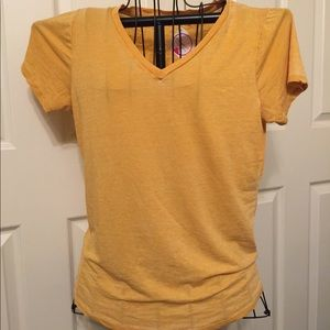 NWT Nadine West Heart & Hips Mustard Yellow Top